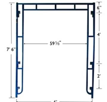 Sidewalk Canopy Scaffolding Frames