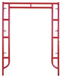 "5' x 6' 7"" Waco red ladder style scaffolding frame"